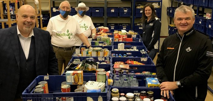 Paul Lawrie, Rick Brooks, Foodbank